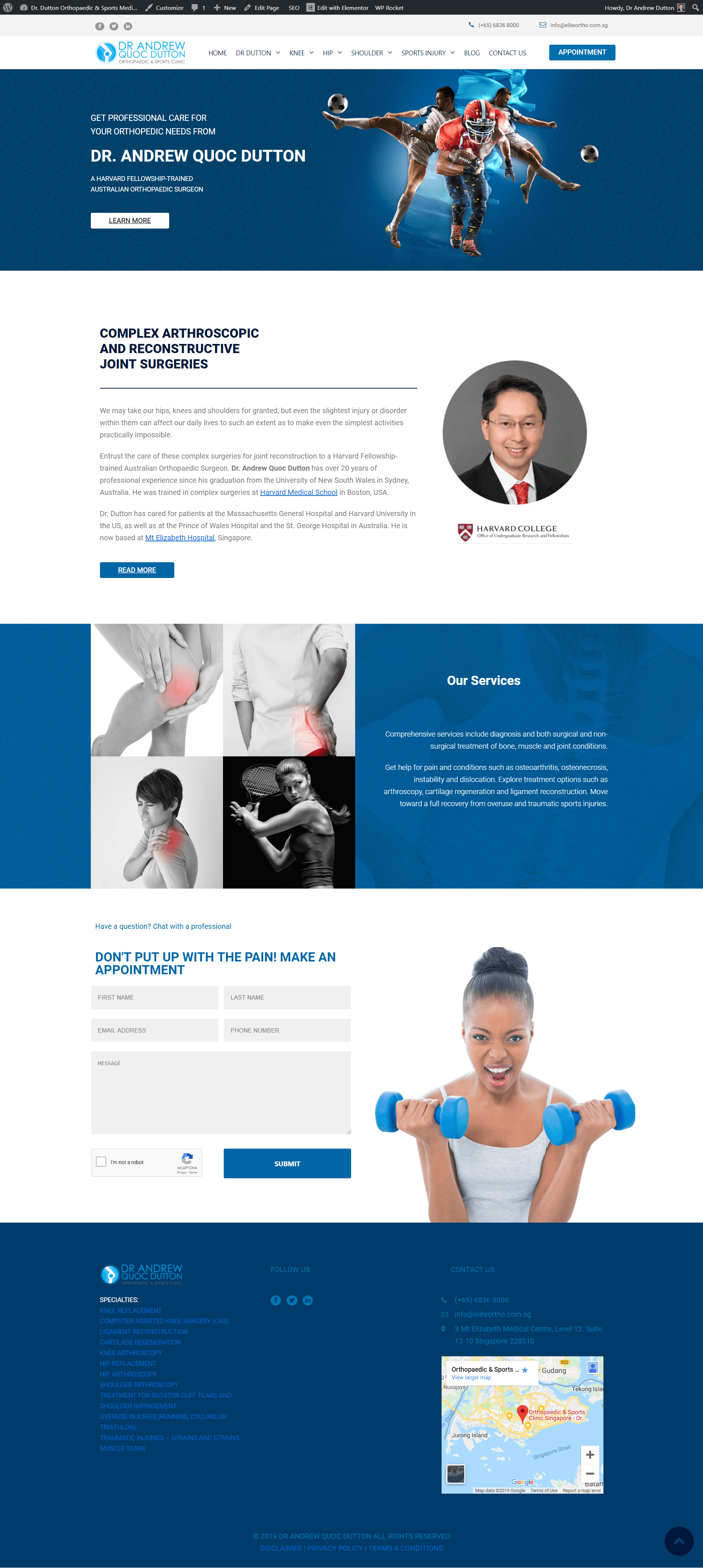 Orthopaedic & Sports Clinic Singapore - Dr  Andrew Quoc Dutton