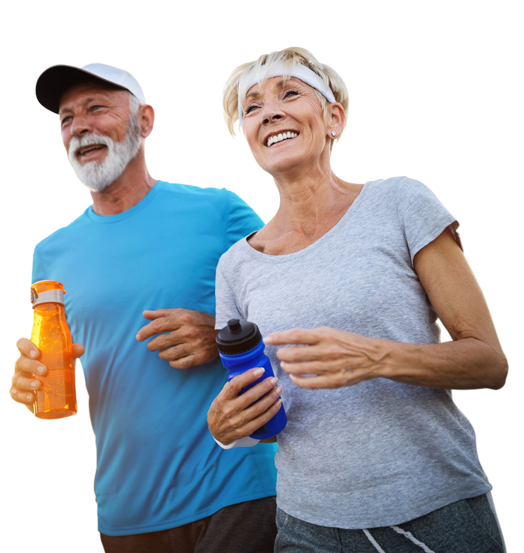 Old Couple Jogging Happy - Orthopaedic Clinic Singapore - Dr Andrew Dutton