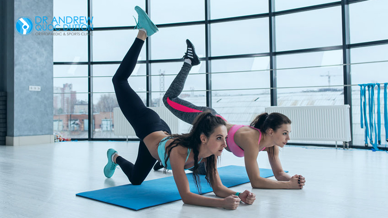 Two Beautiful Ladies Exercise For Knee