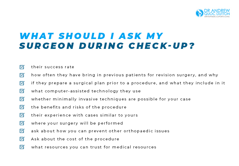 Dr Andrew Dutton What should i ask my surgeon during check up